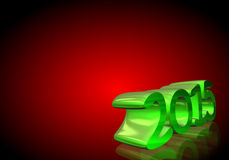 Number 2015 in 3D on red background Royalty Free Stock Image