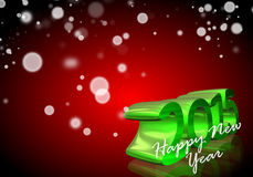 Number 2015 in 3D on red background Stock Photos