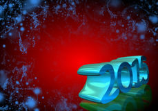 Number 2015 in 3D on red background. New Year - Christmas Card royalty free illustration
