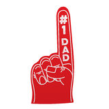 Number 1 dad foam hand Stock Image