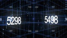 Number data technology background. HD 1080 vector illustration