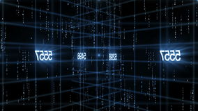 Number data technology background. HD 1080 royalty free illustration