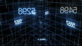 Number data technology background. HD 1080 stock illustration