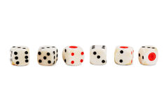 Number of dice from the dice. On a white background Stock Image