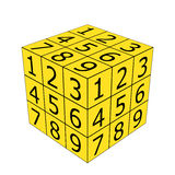 Number dice Royalty Free Stock Photos