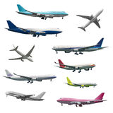 Number of different kind of aircrafts Stock Photography