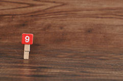 Number 9 Royalty Free Stock Photography