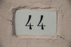 Number 44 Stock Photo