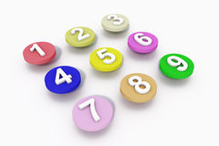 Number Dots Stock Photography