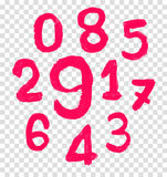 The number drawn by a crayon. Stock Image