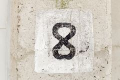 Number Eight royalty free stock image