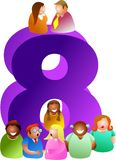 Number eight royalty free illustration