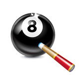 Number eight billiard ball  on white background Royalty Free Stock Photography