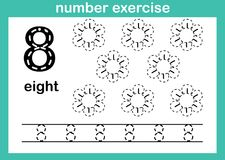 Number eight exercise. Illustration vector royalty free illustration