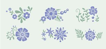 Number eight 8 of flowers. Sketch element for Royalty Free Stock Image