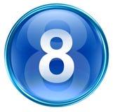 Number eight icon blue. Number eight icon blue, isolated on white background Royalty Free Stock Photos