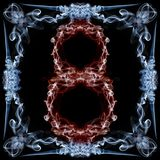 Number eight made of smoke in frame Royalty Free Stock Image
