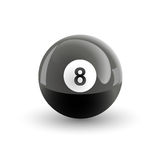 Number Eight Pool Ball. Isolated illustration Vector Illustration