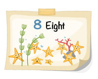 Number eight starfish vector Royalty Free Stock Images