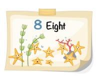 Number eight starfish vector. Illustrator of number eight starfish vector Royalty Free Stock Images
