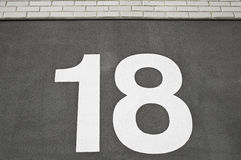 Number eighteen Royalty Free Stock Images