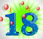 Number Eighteen Party Show Teen Birthday Or Decoration. Number Eighteen Party Showing Teen Birthday Or Decoration Stock Photo