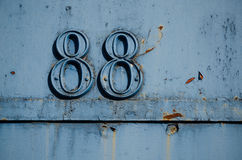 88 - Number eighty eight Stock Photography