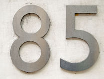 Number eighty five Stock Photos