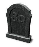 Number eighty on gravestone Stock Photography