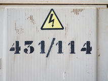 Number on an electricity box Stock Images