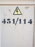 Number on an electricity box Stock Image