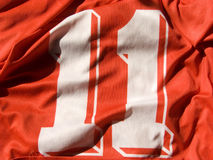 Number eleven. Photo of the number eleven uniform Royalty Free Stock Photo