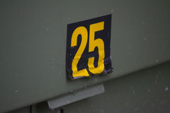Number 25 Stock Photography