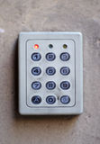 Number entry system. A number entry system on a building stock photo