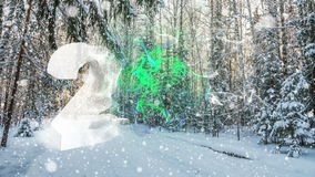 Number 2017 Falling snow in the winter forest, CINEMAGRAPH, loop, 1080p. 4k , loop, Falling snow in the winter forest, CINEMAGRAPH stock footage
