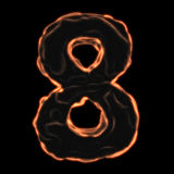 Number 8 fiery border Stock Photo