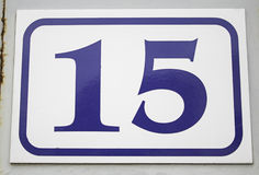 Number fifteen home. Number fifteen urban building construction Royalty Free Stock Photography