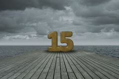 Number fifteen Royalty Free Stock Photos