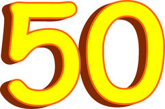 Number fifty Stock Photos
