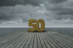 Number fifty Royalty Free Stock Photography