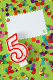 Number five birthday candle Stock Photos