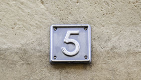 Number five Stock Photo