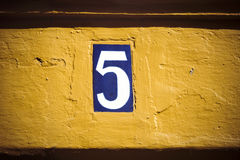Number five Royalty Free Stock Photography