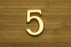Number five, house address plate number Stock Images