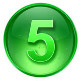 Number five icon. Stock Photos