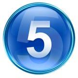 Number five icon blue. Number five icon blue, isolated on white background Royalty Free Stock Photo