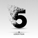 Number five logo  design Royalty Free Stock Images