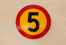 Number five sign Stock Photo