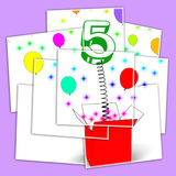 Number Five Surprise Box Displays Surprise Party Or Festivity Royalty Free Stock Photos
