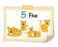 Number five tiger vector royalty free illustration